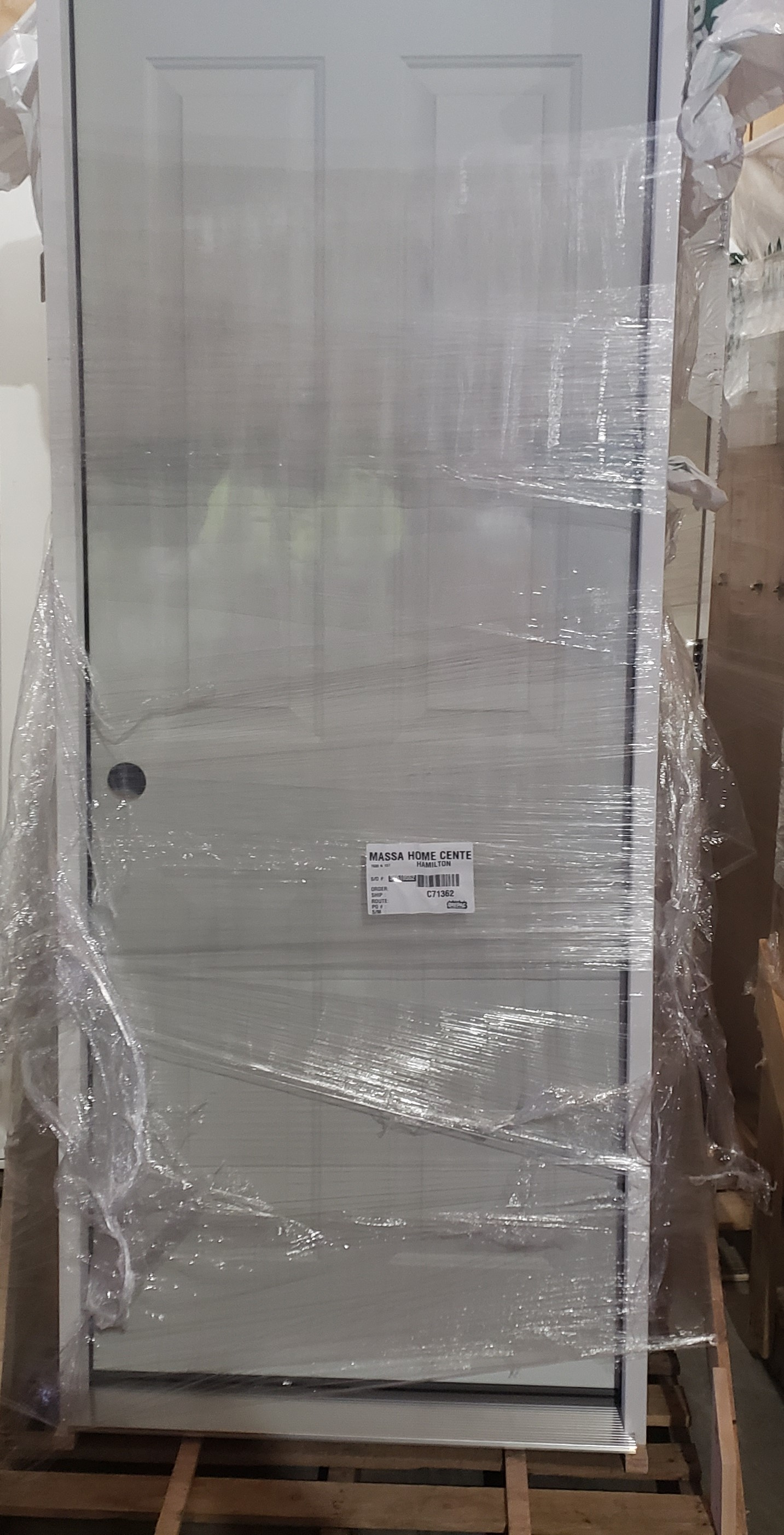 2/8 RH TS214 4 Panel Steel Door