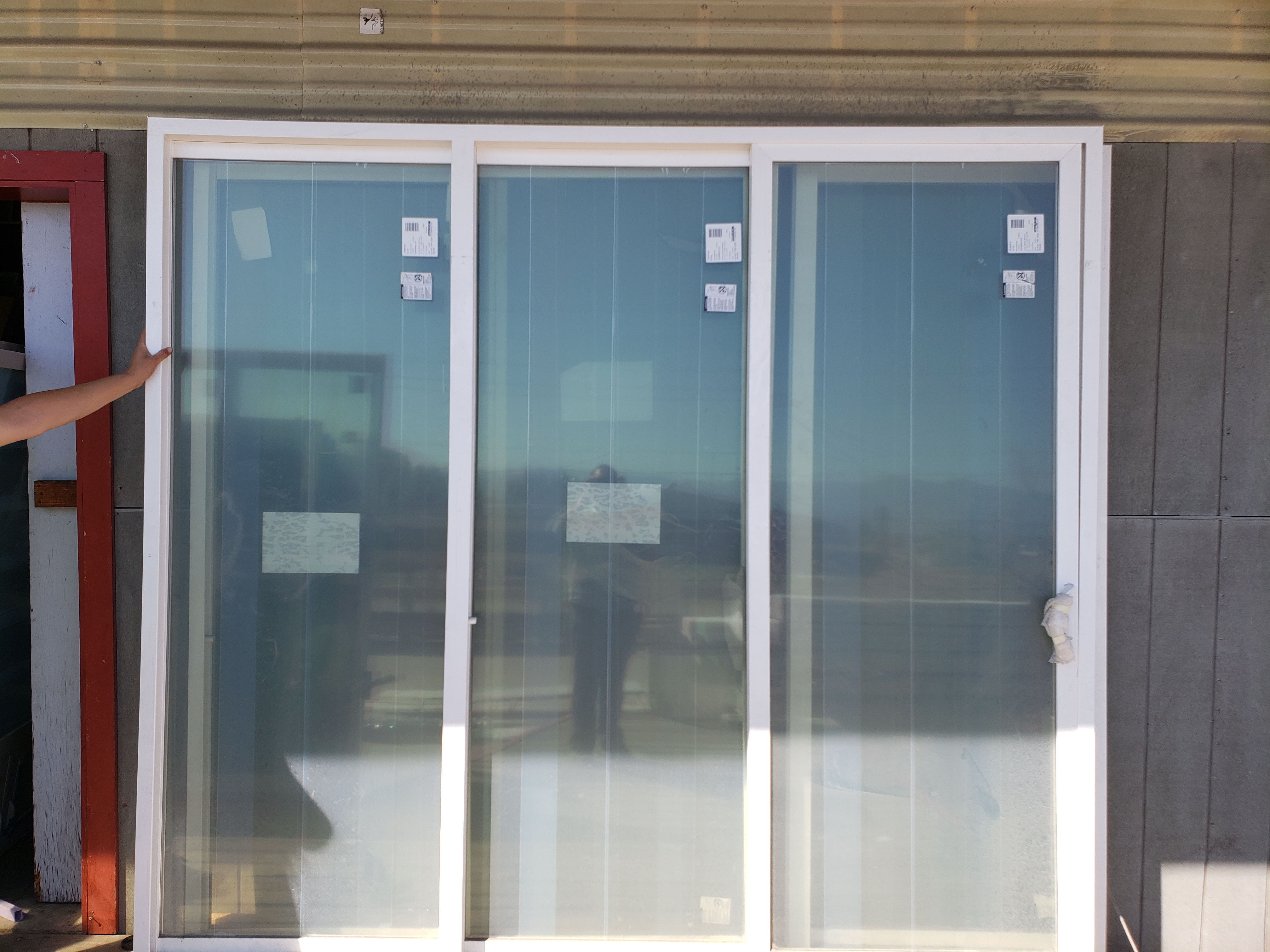 106.5x96 OXO Patio Door White